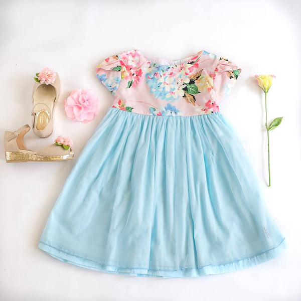 Floral Petal Sleeve Dress