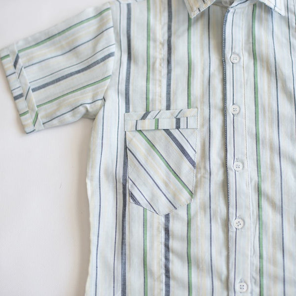 Boys Striped button up shirt