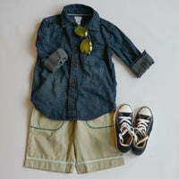 BOY BOAW SHIRT AND SHORTS-rts