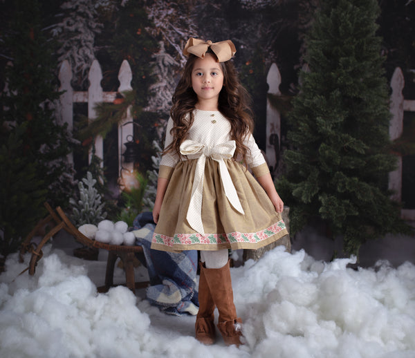 Christmas Dress in linen