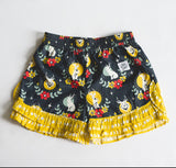 Jackalope shorts with gold trim