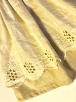 Vintage Linen Dress with scalloped overlay