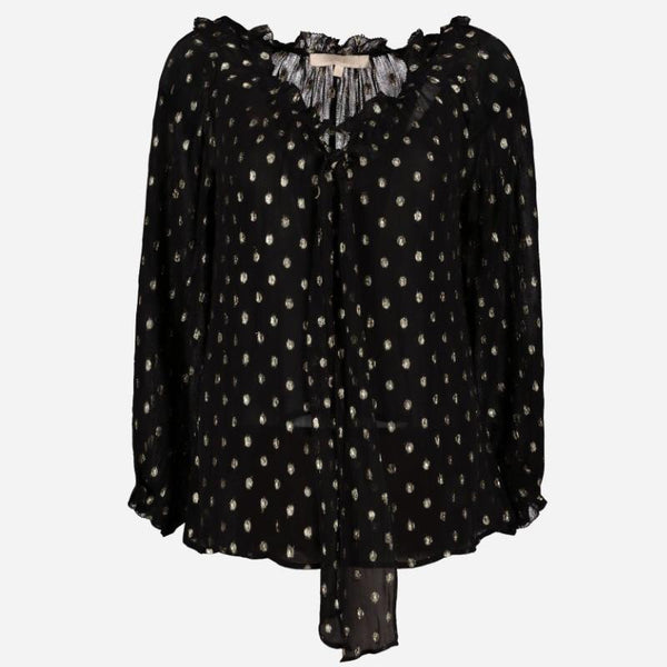 <b>Vanessa Bruno</b><br />Georgette and lurex Hernani blouse