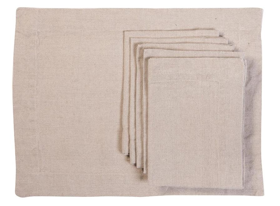 S/6 Placemat Grenelle Natural