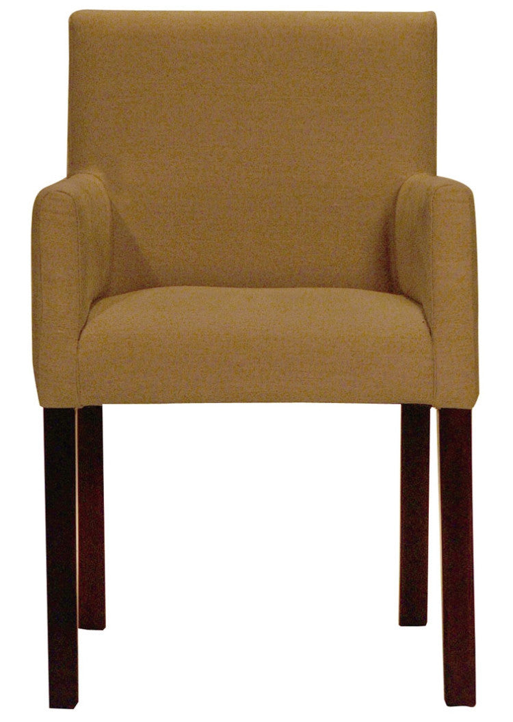 Chair Marta with oak legs, available in different fabrics and colors