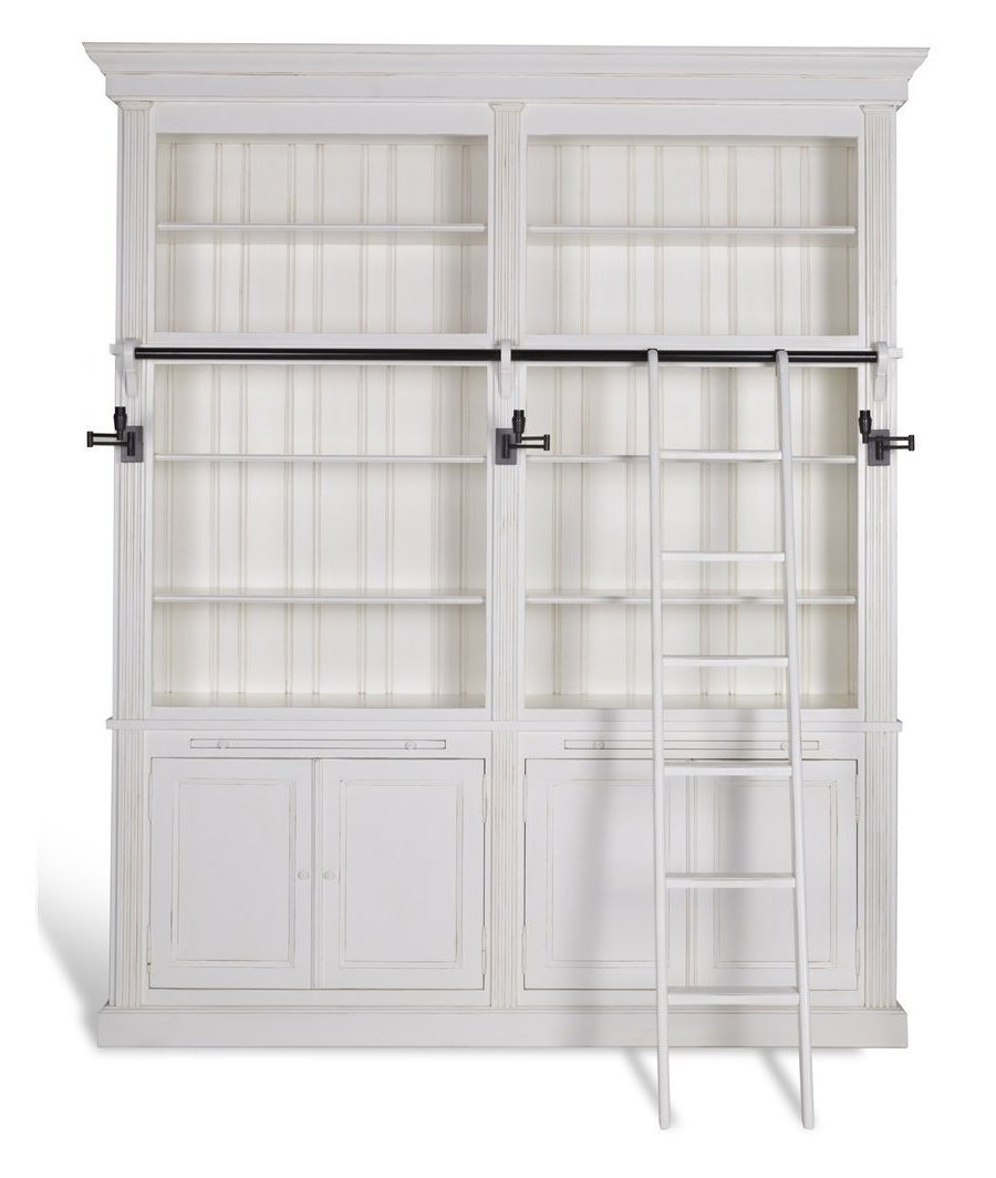 Library Balmore 2 Parts White