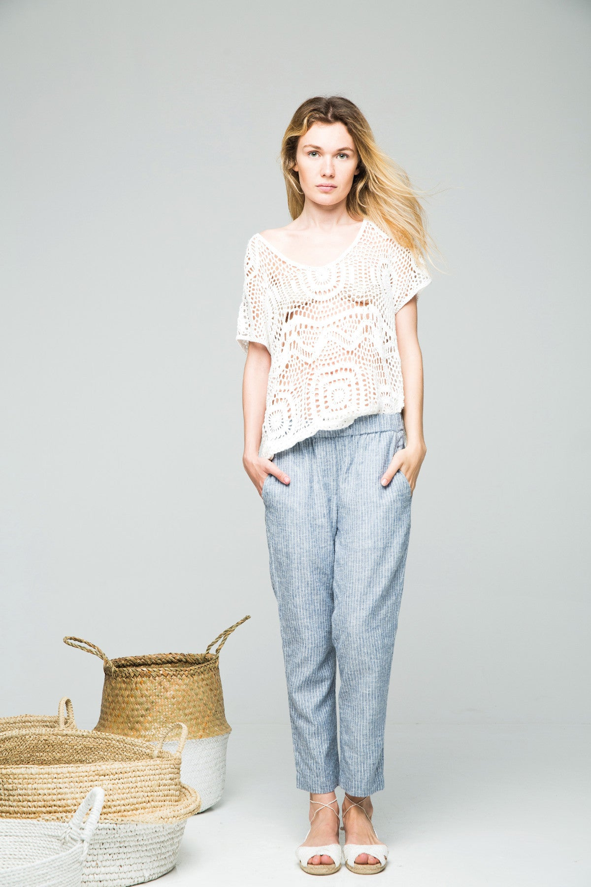 ALEX Long Pant Hemp Stripe