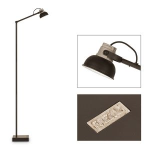 Mazz Floorlamp (With Matt Black Shade and Led Lamp)