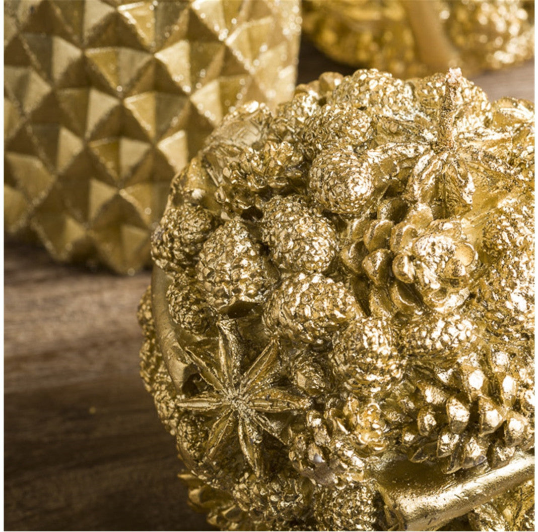 Candle Pino Ball Gold 12Cm Xx