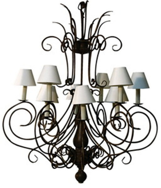 Chandelier Ladezza Rust Finish