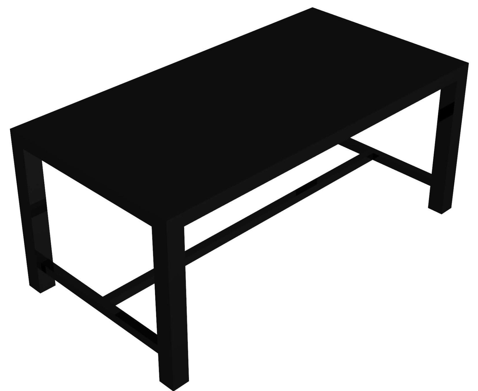 Conrad iron rectangular table, extendable from 93 x 180 to 93 x 280 cm