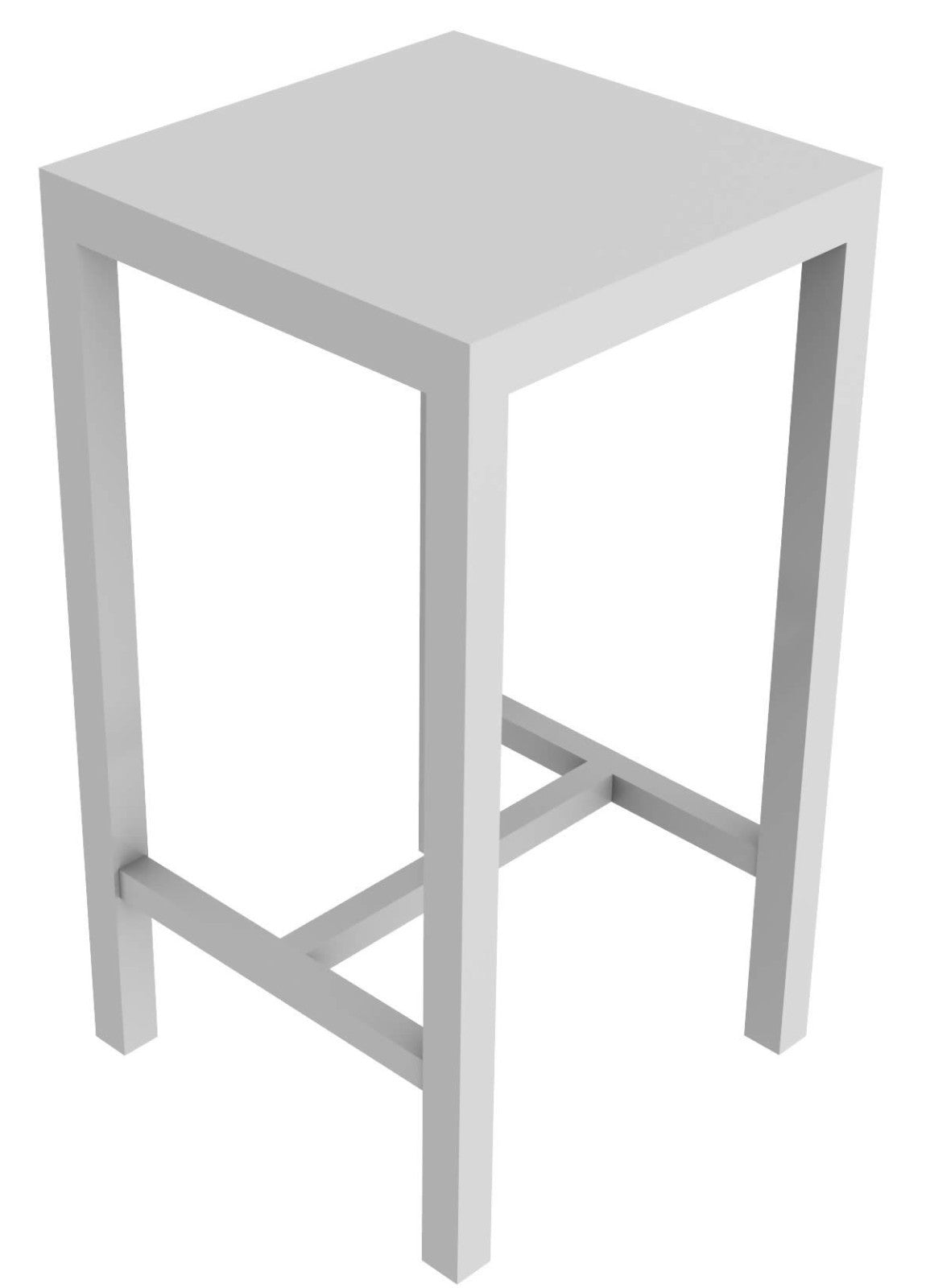 Conrad square high table 60 x 60 cm