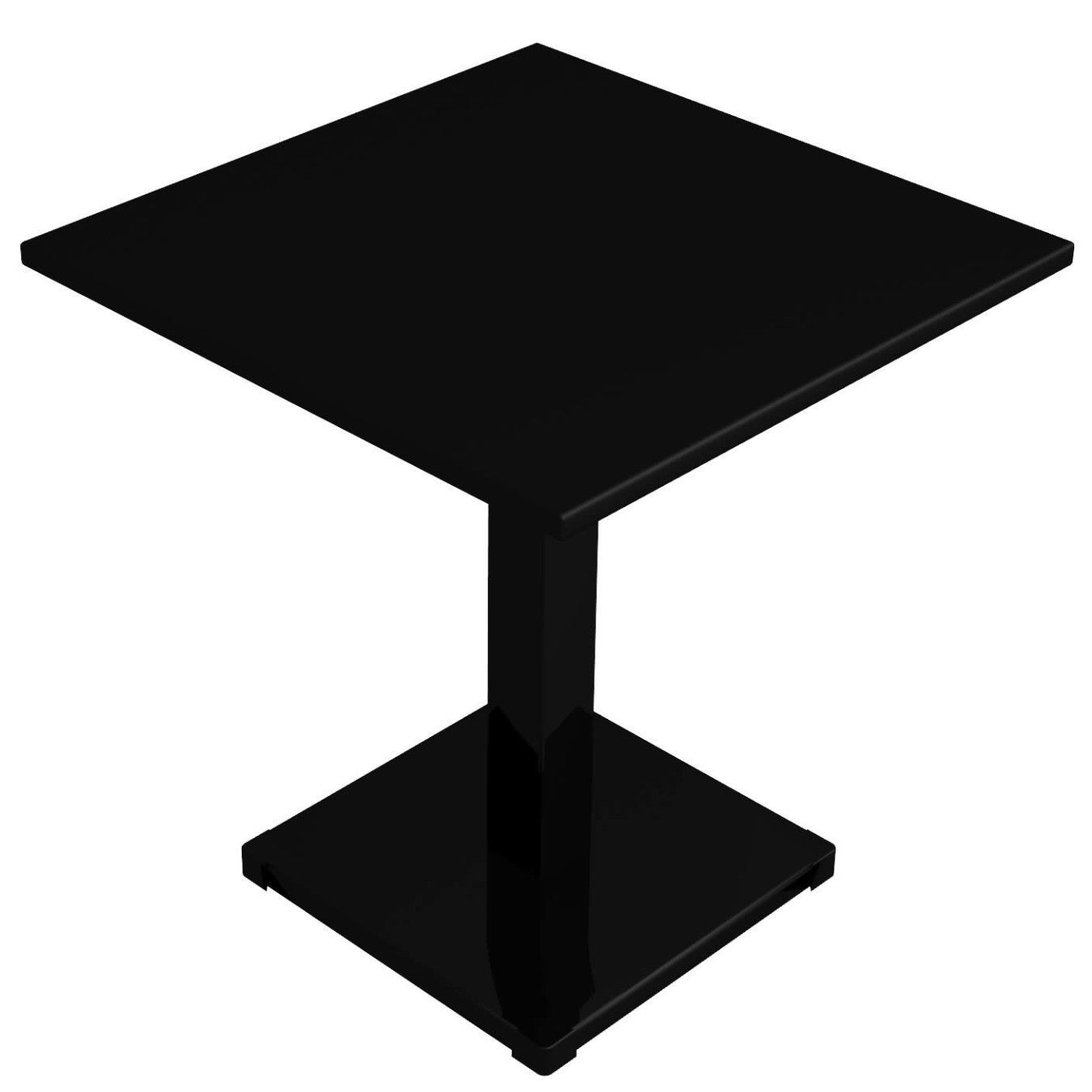 Conrad table, one leg, 70x70