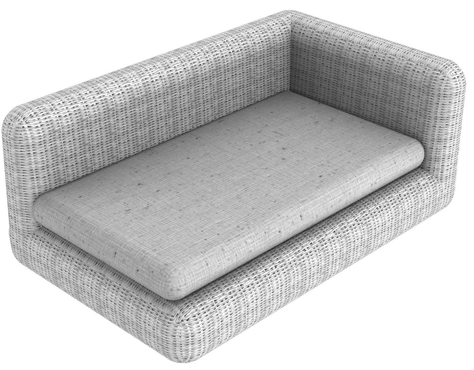 End left module Agorà in WaProLace with 3 cushions with removable covers