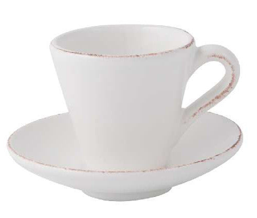 Espresso Cup And Saucer Manosque Antique White