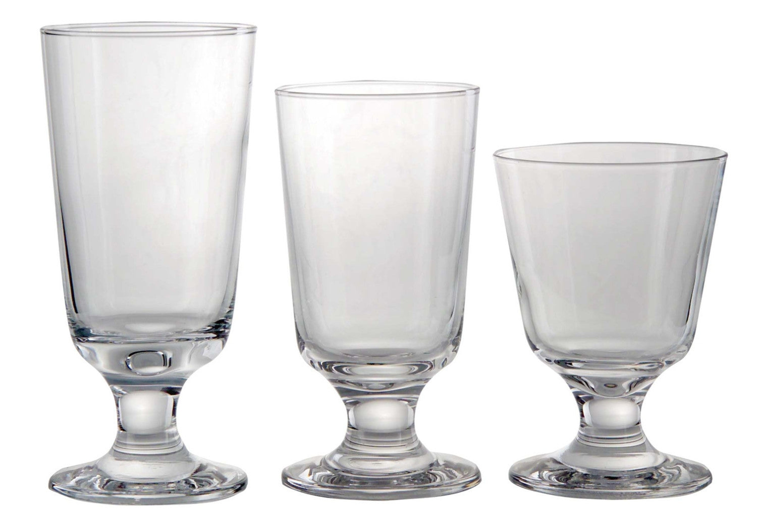 Set of 6 Glass Taverna Small Model 13,5 cm