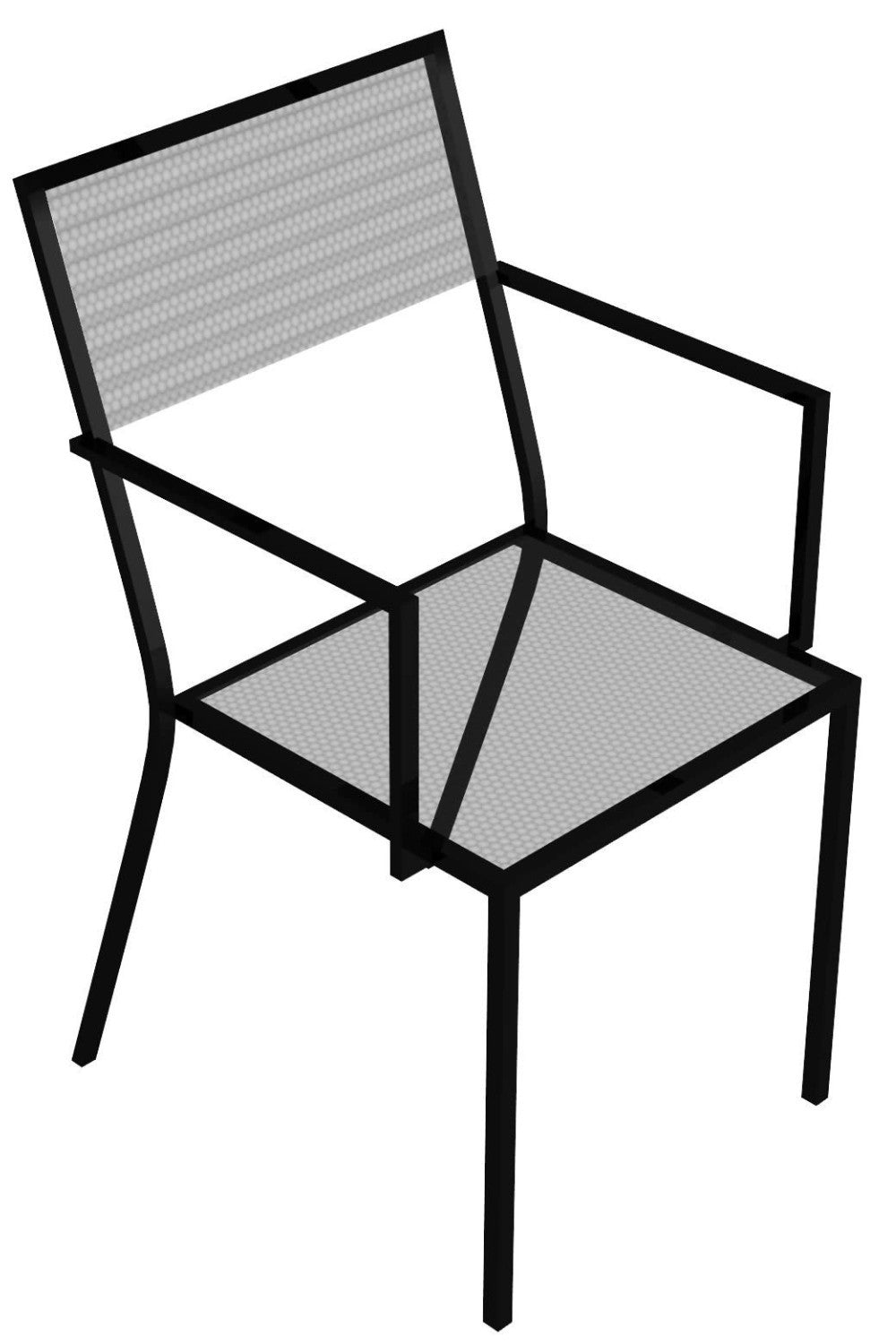 Conrad Iron Lullaby stacking armchair