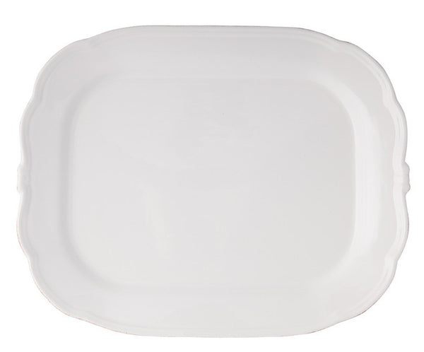Plate Rectang- Maxi Manosque Ant-white