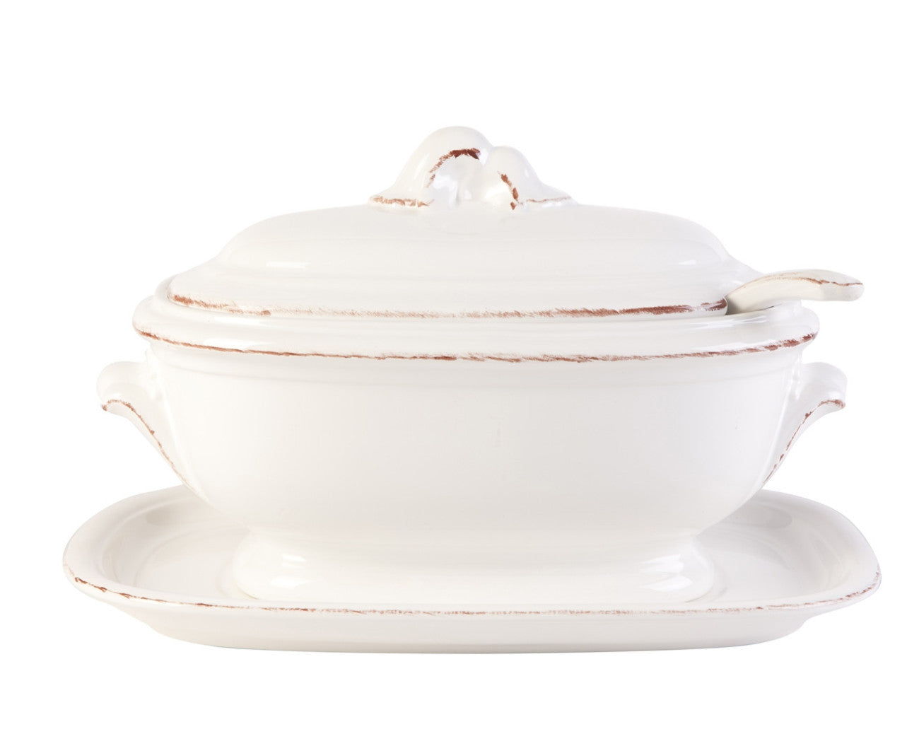 Soup Tureen Manosque Antique White