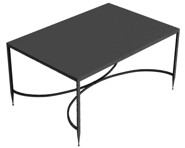 Toscana iron rectangular coffee table, 76 x 52 cm