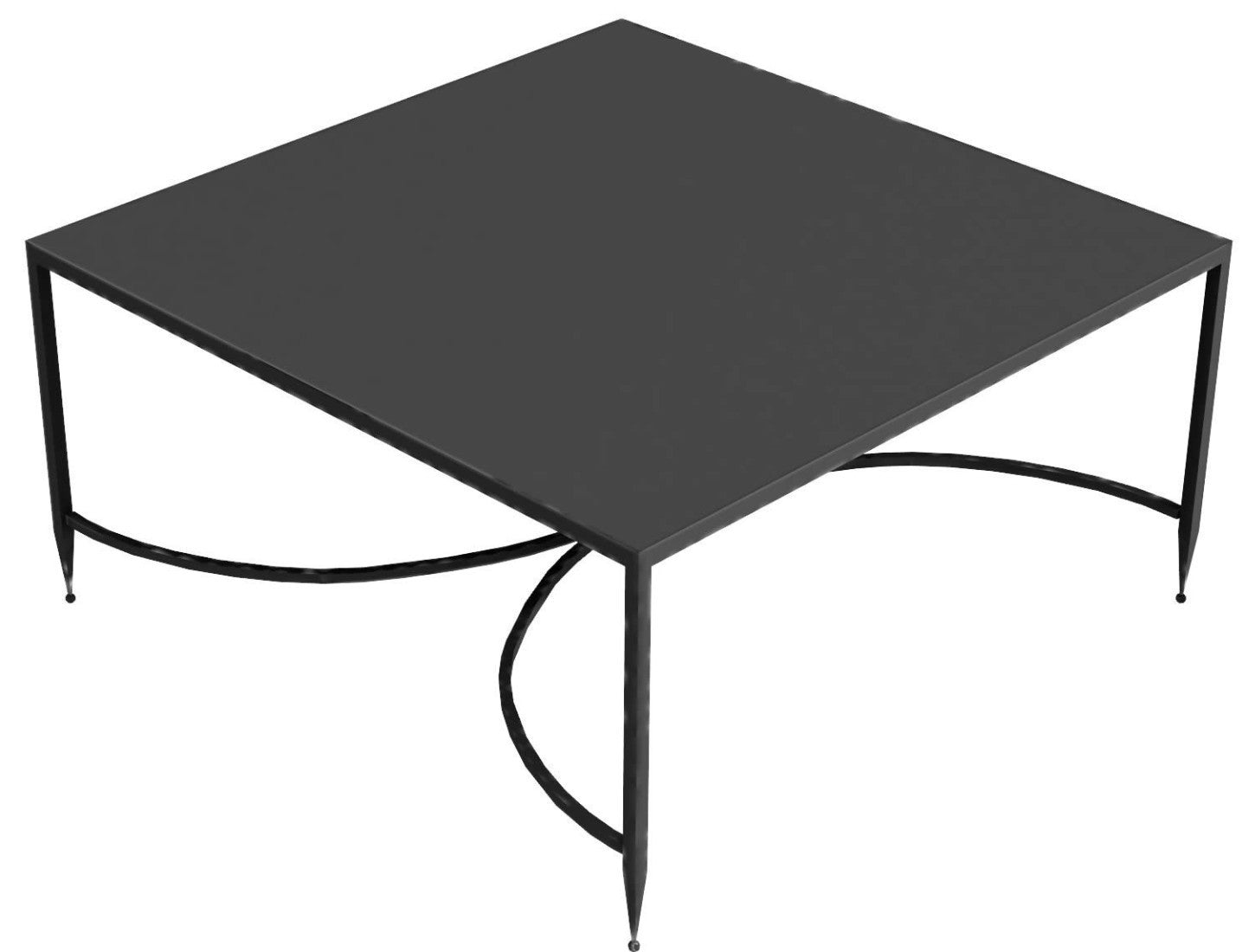 Toscana iron square coffee table, 76 x 76 cm