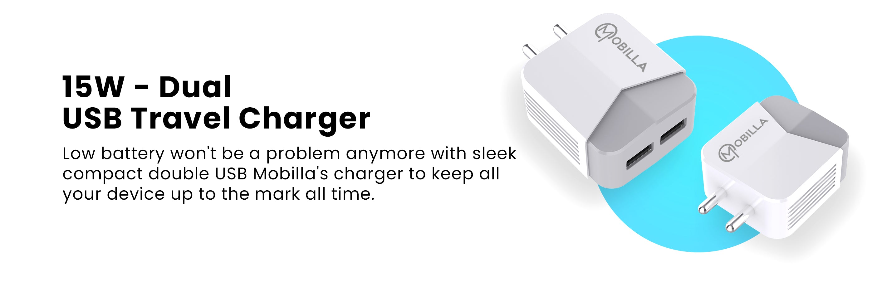 15W Dual USB Charger