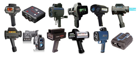Known police LIDAR laser speed guns used in Canada
