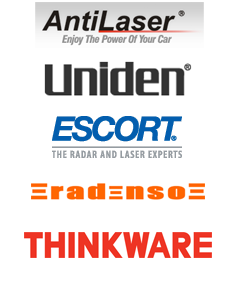 KMPH brands - AL Priority, Uniden, Escort Radar, Radenso, Thinkware