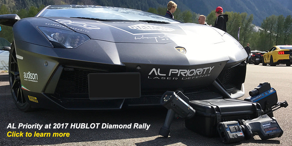 KMPH.ca features AL Priority laser jammer on a Lamborghini Aventador at 2017 Diamond Rally