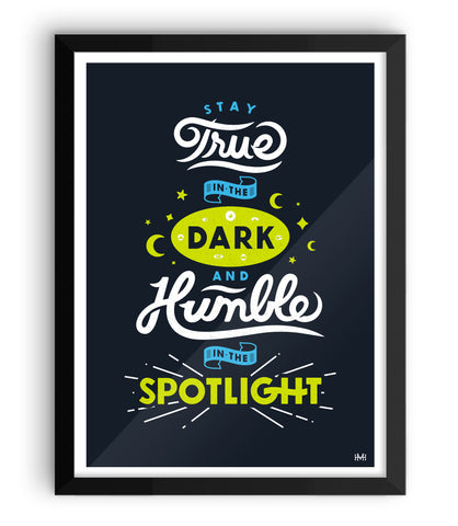 True & Humble Print