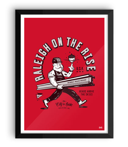 Raleigh On The Rise Print