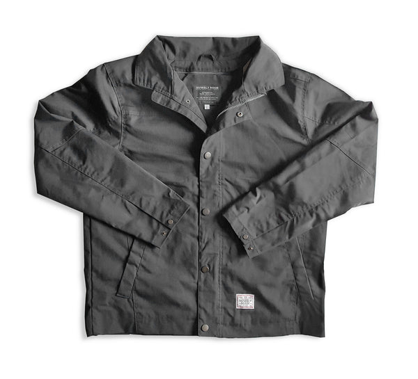 Charcoal Gray Canvas Work Jacket