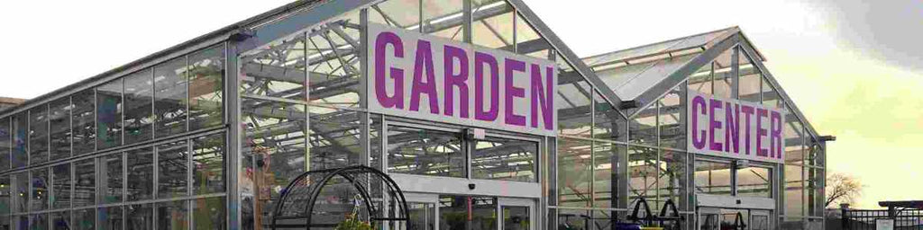 """greenhouse with """"garden center"""" sign"""