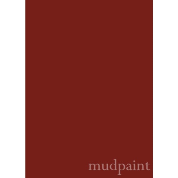 swatch of burgundy wine color, with Mudpaint written at bottom right corner