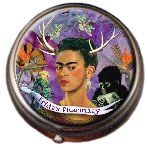 Frida Kahlo Pharmacy Pill Box - Seguin Gardens & Gifts  - 1