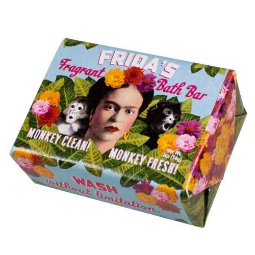 Frida Kahlo Soap with colorful packaging