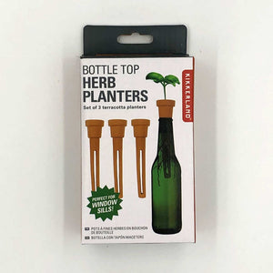 box with photo of contents and planter in bottle