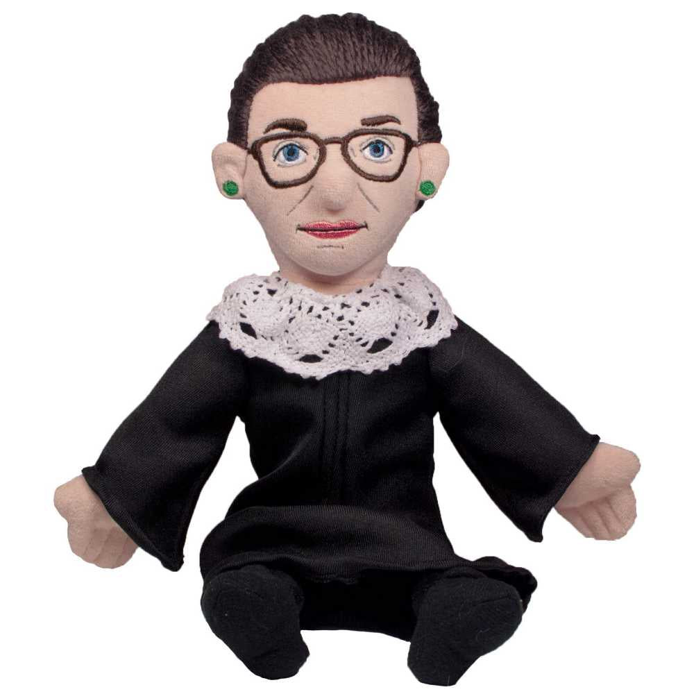 image of doll made of fabric in the image of Ruth Bader Ginsburg