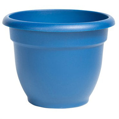 bell shaped 10 inch pot in deep blue