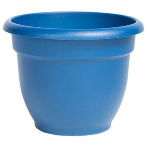 bell shaped 8 inch pot in deep blue color