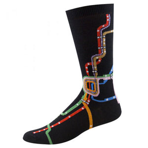 Chicago CTA Map Socks Outside Image