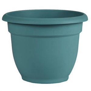 bell shaped 8 inch pot in deep teal color