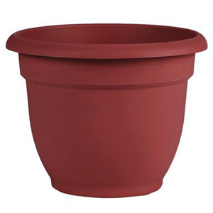 bell shaped 8 inch pot in burnt red color