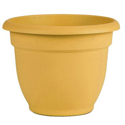bell shaped 6 inch pot in golden yellow color