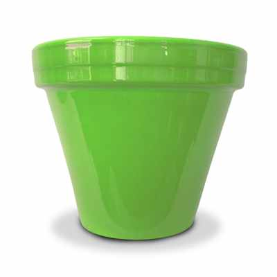 image of lime green flower pot