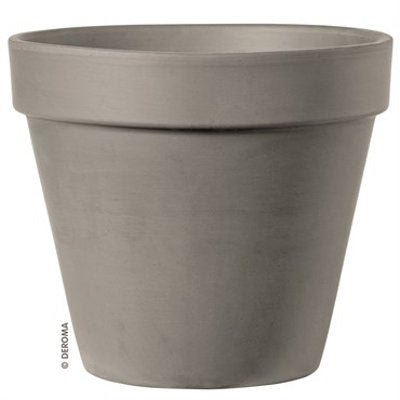 image of grey clay flower pot