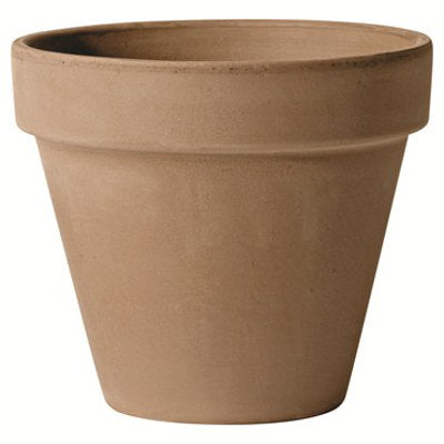 grey clay flower pot