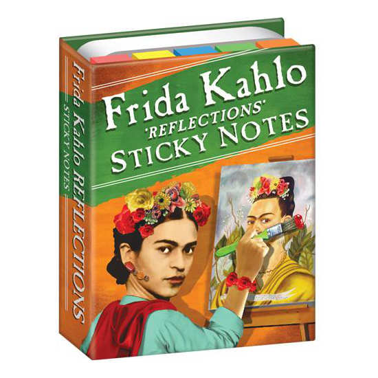 Frida Kahlo Reflections Sticky Notes inside contents