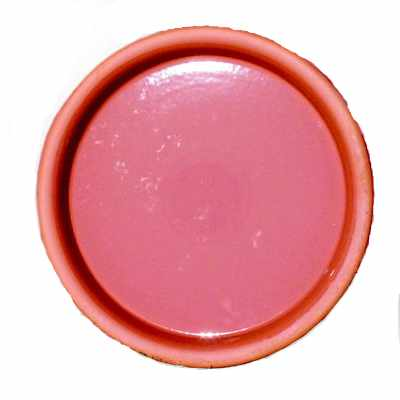 image of two sizes of glazed clay saucers