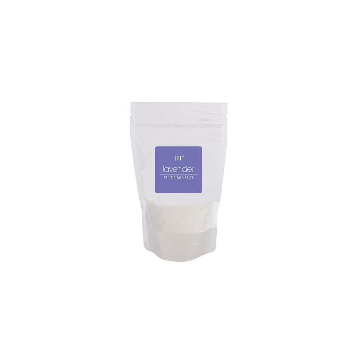 image of bag of lavender bath salts